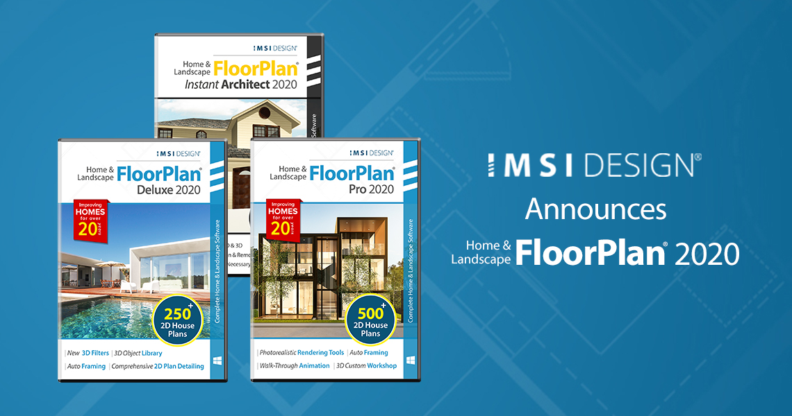 IMSI Design Releases FloorPlan® 2020