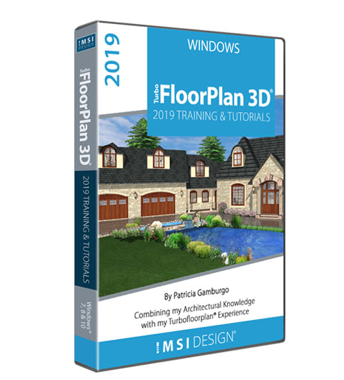 TurboFloorPlan 2019: Training & Tutorials - Windows Version - by Patricia Gamburgo