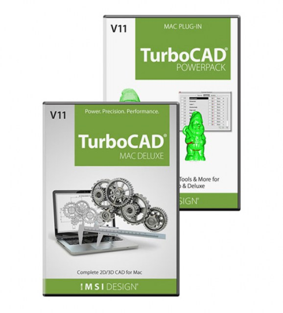 TurboCAD MAC Deluxe v11 and PowerPack Bundle